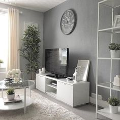 A bit of greenery brings my house to life and compliments white so well, love if