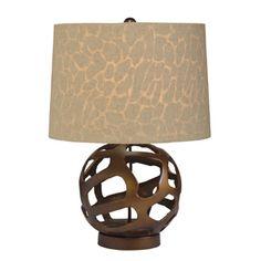 Bronze Fluorescent Table Lamp (70871CA) Kichler    animal print when light is on.