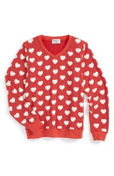 Free shipping and returns on Wildfox 'Little Hearts' Graphic Sweatshirt (Big Girls) at Nordstrom.com. An all-over heart print lends irrepressible charm to a comfy V-neck sweatshirt that serves as an instant casual favorite.