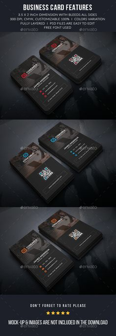 Corporate Business Cards Template PSD #design #visitcard Download: http://graphicriver.net/item/corporate-business-cards/13090925?ref=ksioks
