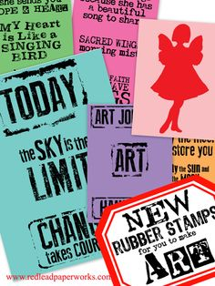 New-Mixed-Media-Rubber-Stamps