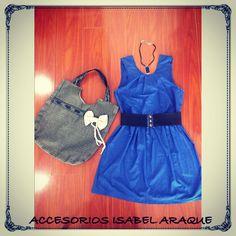 Vestido azul whatsapp