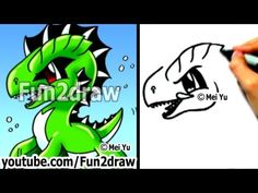 Easy Cartoon Drawings - How to Draw a Cool Sea Monster