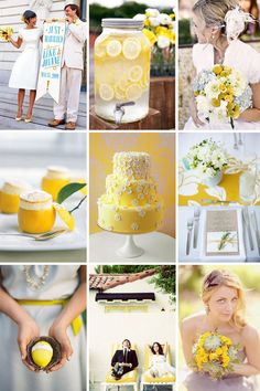 This will be my daughter's wedding one day!  Lemonade and blue accents!  Add a dog and you've got all her favorite things!  :-)