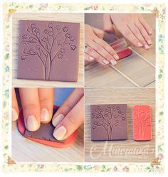 Tutorial - Making a stamp with floral ornament and earrings out of it