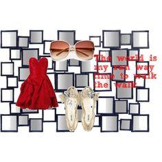 """run way"" created by #randomowl, #polyvore #fashion #style Eileen Kirby Miu Miu"