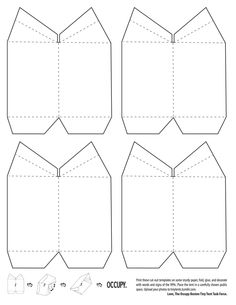 Pattern to make a tent for Paul with Aquila and Priscilla