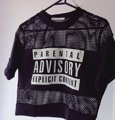 Parental Advisory Explicit Content black jersey