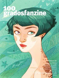 """100grados fanzine número7 """"que cada palo aguante su vela""""  100grados fanzine número7. Portada de Laura Pérez. 10 creativos y muchos artículos la mar de interesantes!"""