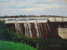 """Madden Dam""  Panama, Canal Zone  Acrylic Painting   I lived near here for several years and loved the climate."