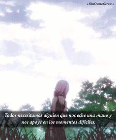 Todos Necesitamos de alguien . #ShuOumaGcrow #Anime #Frases_anime #frases