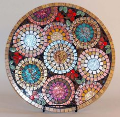 Hey, I found this really awesome Etsy listing at https://www.etsy.com/listing/224023952/18-lazy-susan-mosaic-round-serving-130