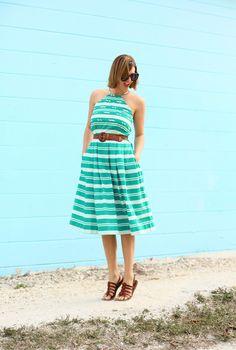 Green Dress, Vintage refashion, upcycling vintage