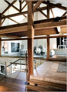 Love The Wood Beams And Open Space.