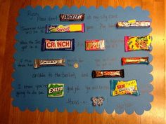 Good luck candy gram for basketball gymnastics posters, volleyball posters, Candy Poster Board, Candy Board, Candy Posters, Diy Gifts For Boyfriend, Birthday Gifts For Boyfriend, Boyfriend Ideas, Ball Birthday Parties, Birthday Ideas, Birthday Cards