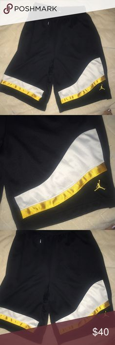 Nike dri fit limited edition Jordan's Black jersey style shirts with yellow and black. Steelers fans would love these! Brand new Nike Shorts Athletic