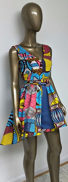 DENWAX Collection. African Print Denim Mini Romper. Jumpsuit. Pockets. Womens Clothing. Handmade. Optional Mini Hi-Lo Overskirt. This is an African Print Denim Mini Romper. Jumpsuit. Pockets.   Ankara | Dutch wax | Kente | Kitenge | Dashiki | African print dress | African fashion | African women dresses | African prints | Nigerian style | Ghanaian fashion | Senegal fashion | Kenya fashion | Nigerian fashion | Ankara crop top (affiliate)