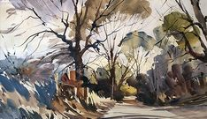 Artists in Wiltshire Watercolor Landscape Paintings, Watercolor Artists, Watercolour Painting, Painting & Drawing, Watercolours, Painting Corner, Apple Art, Botanical Drawings, Artist Life