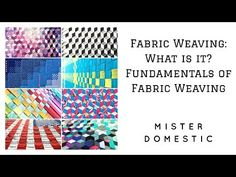 Fabric Weaving: What is it? Fundamentals of Fabric Weaving with Mister Domestic Pin Weaving, Fabric Weaving, Basket Weaving, Woven Fabric, Strip Quilts, Easy Quilts, Mini Quilts, Quilting Tutorials, Quilting Projects