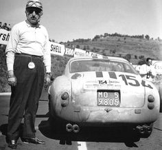 Jo Schlesser with Ferrari 250GT on Tour de France 1960