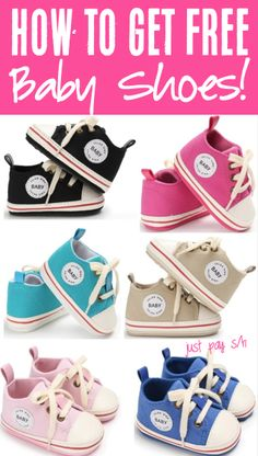 Walking Baby Tips - Get Free Shoes for Babies!  Is your little one ready to start walking?  These adorable canvas shoes are the cutest way to offer some support!  Have you gotten yours yet??