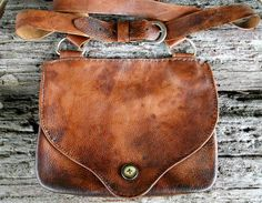 Rustic Distressd Leather Mountain Man Double Pouch by misstudy, SOLD https://www.etsy.com/shop/misstudy