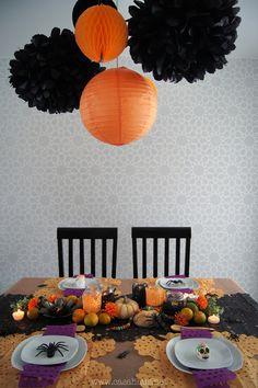Halloween / Day of Dead table setting    Mesa de Halloween y Día de muertos - Casa Haus - Decoración