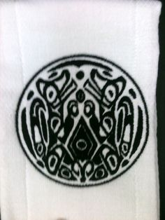 Quileute Tattoo Themed Boutique Burp Cloth Set by Just Being Frilly