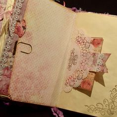 Vintage Roses Journal. So full of pockets, tuck spots, tags and journaling space.  Check out the video of this journal on my YouTube Channel, Papercrafts Arts - https://youtu.be/lHzsLvb7j1M. #papercraftsarts #journalstoinspire #vintagejournal
