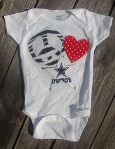 Peace Love and Dallas Cowboys Onesie by BabyChicLilBoutique, $15.00