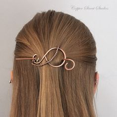 Small Hair Barrette with Twisted Wire Small by CopperStreetStudios