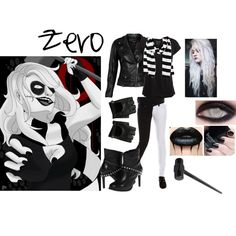 A fashion look from March 2015 featuring v-neck tee, lambskin jacket and black and white jeans. Browse and shop related looks. Cosplay Diy, Cosplay Outfits, Scene Girl Fashion, Outfits For Teens, Girl Outfits, Black And White Jeans, Creepypasta Characters, Scene Girls, Fandom Outfits