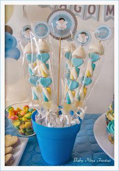 Resultado de imagen para mesa de dulces bautizo para niña