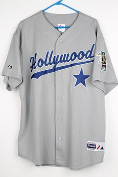 MLB Players Choice 2004 Retail Summit HOLLYWOOD Majestic Grey Jersey XL SEWN #Majestic #Hollywood