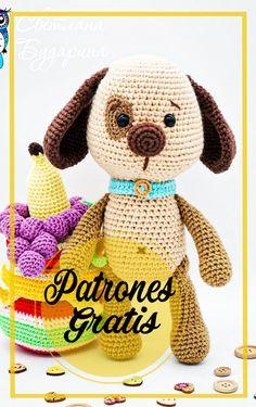 Crochet Mouse, Cute Crochet, Crochet Dolls, Crochet Dog Patterns, Amigurumi Patterns, Patron Crochet, Amigurumi Doll, Amigurumi Free, Crochet Animals