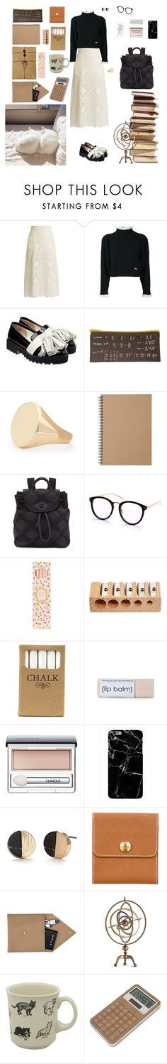 """The Mathematician"" by jessicaoftheoaks ❤ liked on Polyvore featuring Hillier Bartley, Dsquared2, Anouki, Aurélie Bidermann, Muji, Tory Burch, Ladurée, Jayson Home, Clinique and Harper & Blake"