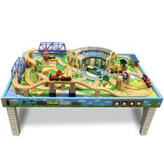 thomas and friends wood train set | Thomas \u0026 Friends Wooden Railway - Deluxe Tidmouth Train  sc 1 st  Pinterest & Square train set up. All Thomas sized tracks | Children ...
