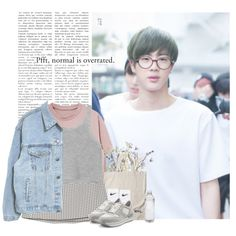 Jin: pfft, normal is overrated by yxing on Polyvore featuring polyvore, Joie, NIKE, Hogan, fashion, style, clothing, kpop, bangtan and jin