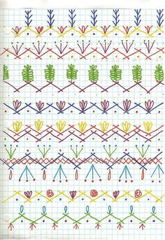 Designs de ligaduras para colcha de retalhos .  /  Seam Designs for crazy quilt.