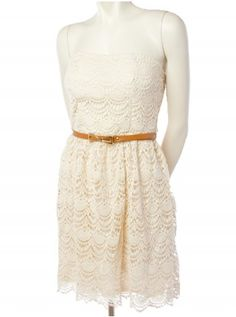 Crochet Belted Dress - Casual - Dresses