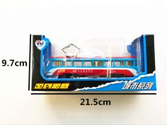 Gift Package Alloy car model Bus service  Antenna tram toys for children Exquisite 108 road passenger car