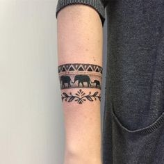Mandala Elephant Bracelet Tattoo Designs