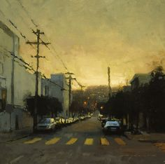 Paintings of Cities - Los Angeles, San Franciso, New York, Chicago - by Jeremy Mann in his series Cityscapes.