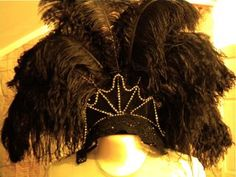 Instructions for a showgirl headdress.