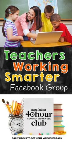 Ever heard that teachers need to work smarter and not harder? Join this Facebook group to learn how Angela Watson's 40 Hour Teacher Workweek Club can help you get organized and achieve a better work/life balance! If you're already a member of the club, join the group to share your stories about the difference it's made in your life!