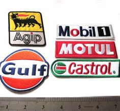 / Applique Embroidery Embroidered Badge Gift Costume/  / Patches/  Ralley Car/  / Motorbike/  / CASTROL Motorsport Iron on Patch/  / Give Away