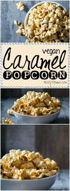 I had no idea how easy making caramel popcorn would be--and then for it to be vegan! I mean, that's AWESOME.