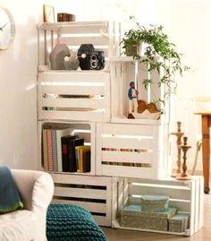 boxes #crate shelves #diy