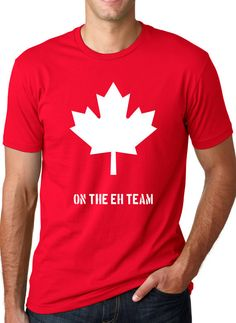 Canada eh team funny Canada shirt T Shirt Cotton Short Sleeve T-shirt Top Tees More Size and Colors-A375 #Affiliate