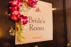 bride's room, bride's room board, personalised decor